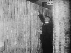 Papel moneda durante la inflación de Weimar